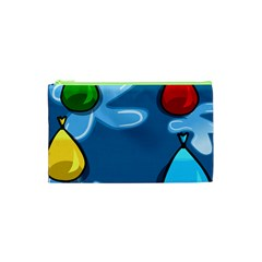 Water Balloon Blue Red Green Yellow Spot Cosmetic Bag (xs) by Mariart