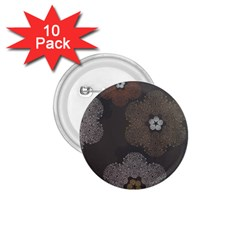 Walls Medallion Floral Grey Polka 1 75  Buttons (10 Pack)