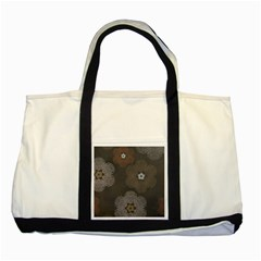 Walls Medallion Floral Grey Polka Two Tone Tote Bag by Mariart