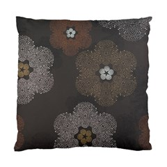 Walls Medallion Floral Grey Polka Standard Cushion Case (two Sides) by Mariart