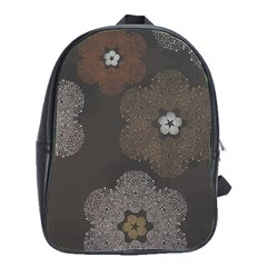 Walls Medallion Floral Grey Polka School Bags(large)