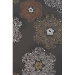 Walls Medallion Floral Grey Polka 5 5  X 8 5  Notebooks by Mariart