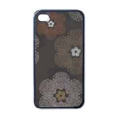 Walls Medallion Floral Grey Polka Apple Iphone 4 Case (black)