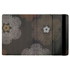 Walls Medallion Floral Grey Polka Apple Ipad 3/4 Flip Case by Mariart