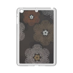 Walls Medallion Floral Grey Polka Ipad Mini 2 Enamel Coated Cases by Mariart