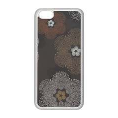 Walls Medallion Floral Grey Polka Apple Iphone 5c Seamless Case (white) by Mariart