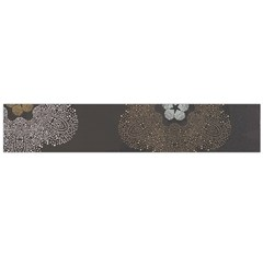 Walls Medallion Floral Grey Polka Flano Scarf (large) by Mariart