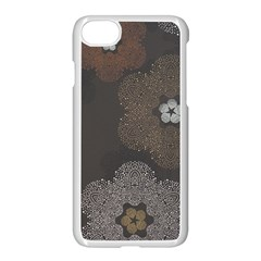 Walls Medallion Floral Grey Polka Apple Iphone 7 Seamless Case (white) by Mariart