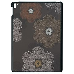 Walls Medallion Floral Grey Polka Apple Ipad Pro 9 7   Black Seamless Case by Mariart
