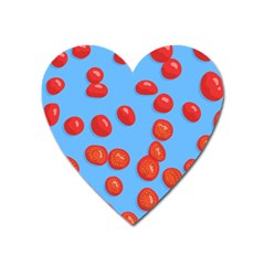 Tomatoes Fruite Slice Red Heart Magnet