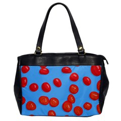 Tomatoes Fruite Slice Red Office Handbags by Mariart