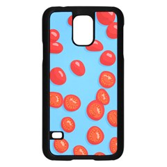 Tomatoes Fruite Slice Red Samsung Galaxy S5 Case (black) by Mariart