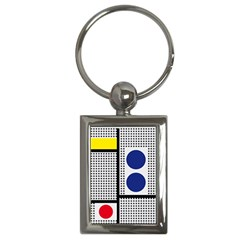 Watermark Circle Polka Dots Black Red Yellow Plaid Key Chains (rectangle)  by Mariart