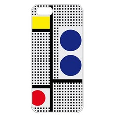 Watermark Circle Polka Dots Black Red Yellow Plaid Apple Iphone 5 Seamless Case (white) by Mariart