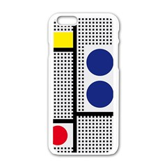 Watermark Circle Polka Dots Black Red Yellow Plaid Apple Iphone 6/6s White Enamel Case by Mariart