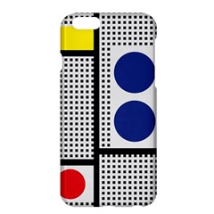 Watermark Circle Polka Dots Black Red Yellow Plaid Apple Iphone 6 Plus/6s Plus Hardshell Case by Mariart