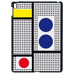 Watermark Circle Polka Dots Black Red Yellow Plaid Apple Ipad Pro 9 7   Black Seamless Case by Mariart