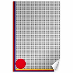 Watermark Circle Polka Dots Black Red Canvas 24  X 36