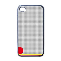 Watermark Circle Polka Dots Black Red Apple Iphone 4 Case (black) by Mariart