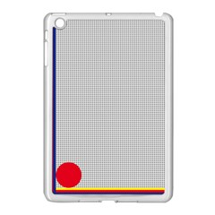 Watermark Circle Polka Dots Black Red Apple Ipad Mini Case (white) by Mariart