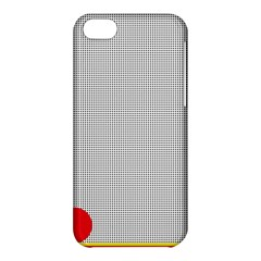 Watermark Circle Polka Dots Black Red Apple Iphone 5c Hardshell Case by Mariart