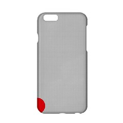 Watermark Circle Polka Dots Black Red Apple Iphone 6/6s Hardshell Case by Mariart