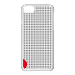 Watermark Circle Polka Dots Black Red Apple Iphone 7 Seamless Case (white) by Mariart