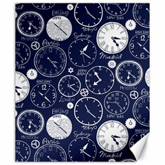 Time World Clocks Canvas 20  X 24   by Mariart