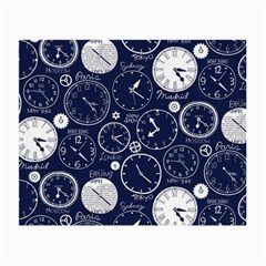 Time World Clocks Small Glasses Cloth (2-side) by Mariart