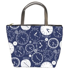 Time World Clocks Bucket Bags by Mariart