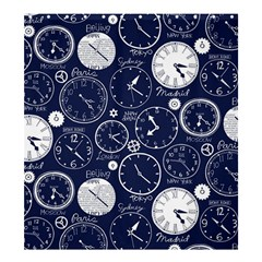 Time World Clocks Shower Curtain 66  X 72  (large)  by Mariart