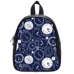 Time World Clocks School Bags (small)  by Mariart