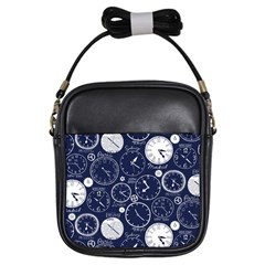 Time World Clocks Girls Sling Bags by Mariart