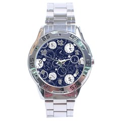 Time World Clocks Stainless Steel Analogue Watch by Mariart