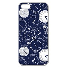 Time World Clocks Apple Seamless Iphone 5 Case (clear) by Mariart