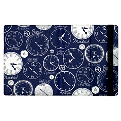 Time World Clocks Apple Ipad 2 Flip Case by Mariart
