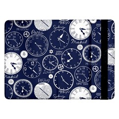 Time World Clocks Samsung Galaxy Tab Pro 12 2  Flip Case by Mariart