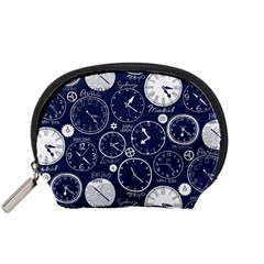 Time World Clocks Accessory Pouches (small)  by Mariart