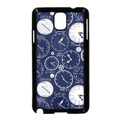 Time World Clocks Samsung Galaxy Note 3 Neo Hardshell Case (black) by Mariart