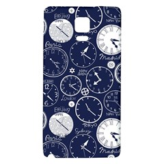Time World Clocks Galaxy Note 4 Back Case by Mariart