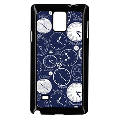 Time World Clocks Samsung Galaxy Note 4 Case (black) by Mariart