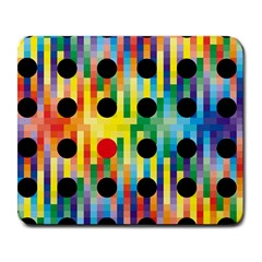 Watermark Circles Squares Polka Dots Rainbow Plaid Large Mousepads