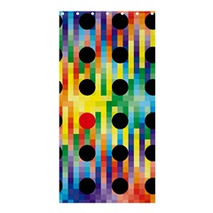 Watermark Circles Squares Polka Dots Rainbow Plaid Shower Curtain 36  X 72  (stall)  by Mariart