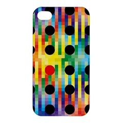 Watermark Circles Squares Polka Dots Rainbow Plaid Apple Iphone 4/4s Hardshell Case by Mariart