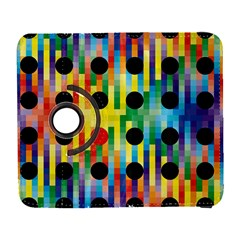 Watermark Circles Squares Polka Dots Rainbow Plaid Galaxy S3 (flip/folio) by Mariart