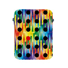 Watermark Circles Squares Polka Dots Rainbow Plaid Apple Ipad 2/3/4 Protective Soft Cases by Mariart