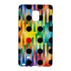 Watermark Circles Squares Polka Dots Rainbow Plaid Galaxy Note Edge by Mariart