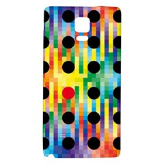 Watermark Circles Squares Polka Dots Rainbow Plaid Galaxy Note 4 Back Case by Mariart