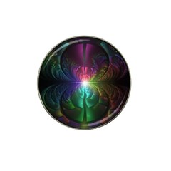 Anodized Rainbow Eyes And Metallic Fractal Flares Hat Clip Ball Marker (4 Pack) by jayaprime