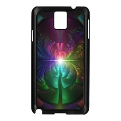 Anodized Rainbow Eyes And Metallic Fractal Flares Samsung Galaxy Note 3 N9005 Case (black)